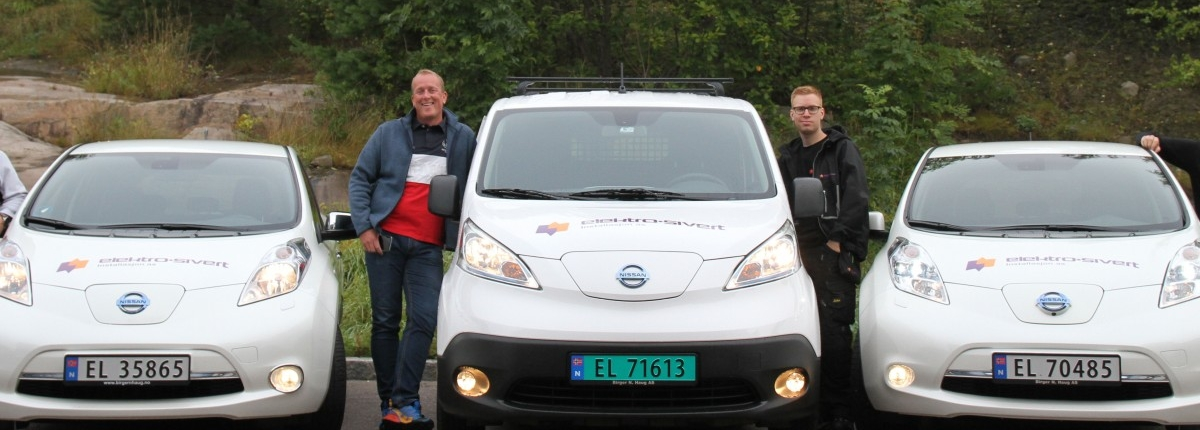 Conpot- Elektro-Sivert -Grønne varebiler i farta- Elektro-Sivert- Nissan Leaf